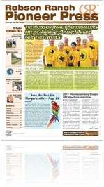Robson Ranch Pioneer Press - July 2011