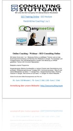 Suchmaschinenoptimierung - SEO Training Online