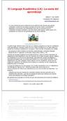 El Lenguaje Acad�mico (LA): La savia del aprendizaje
