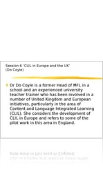 CLIL in Europe and the UK  (Do Coyle)