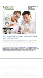 Why a Compounding Pharmacy and Its Pharmacists Should Follow the Code of Ethics?