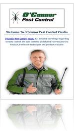 O'Connor Pest & Termite Control Service in Visalia, CA