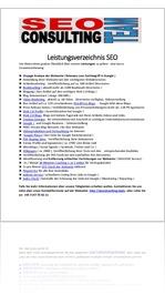 SEO Consulting Stuttgart - Leistungsverzeichnis