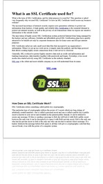 What is an SSL Certificate used for?