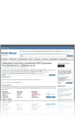 Allahabad University Combined CRET Entrance Test Result 2011 | allduniv.ac.in