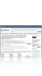 www.dghs.gov.bd.com | DGHS MBBS/BDS Admission Test Results 2011 Announced | dghs.gov.bd.com