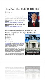 Ron Paul How To END THE FED