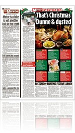 Irish Sunday Mirror - Dunnes Stores - Christmas Dunne & Dusted