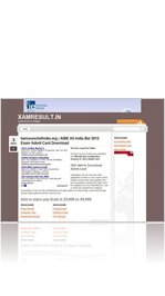 barcouncilofindia.org | AIBE All India Bar 2012 Exam Admit Card Download
