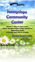 2012 Sunnyslope Community Center Course Schedule