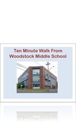 Ten Minute Walk From Woodstock Middle School