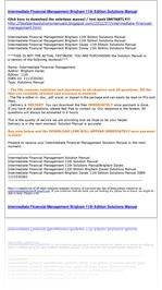 Intermediate Financial Management Brigham 11th Edition Solutions Manual