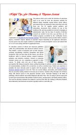 Career Information About How To Become a Physician Assistant
