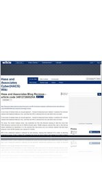 Hass and Associates Blog Reviews - article code 34912726002HA